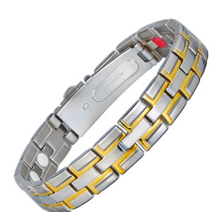 Magnetic Man Chain Link Titanium Elements Bracelet